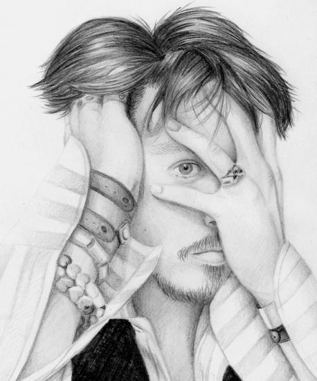 Johnny Depp por Anette